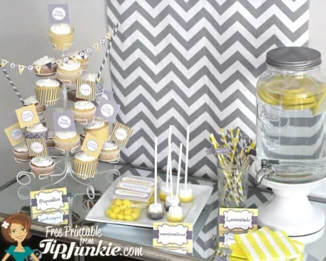 11 piece party printables