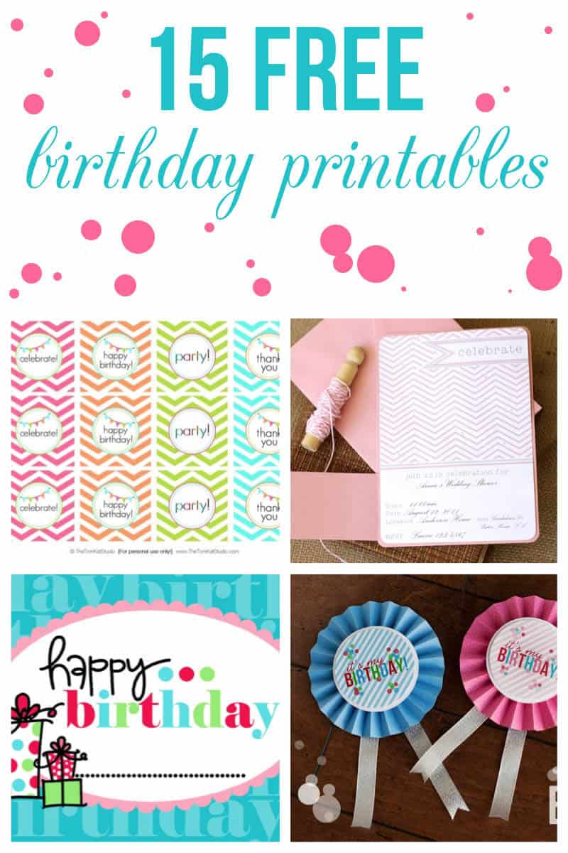 15 free birthday printables I Heart Nap Time – Printable Free Birthday Party Invitations