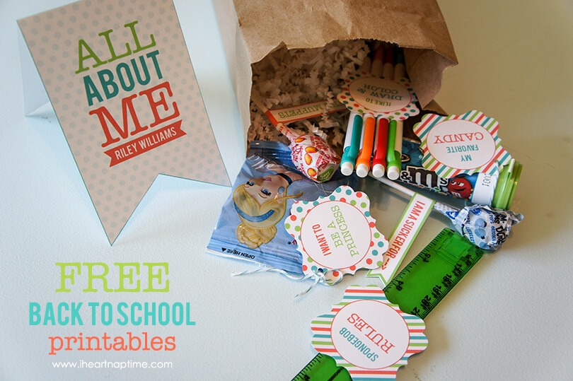 """All About Me"" Back to School Printables"