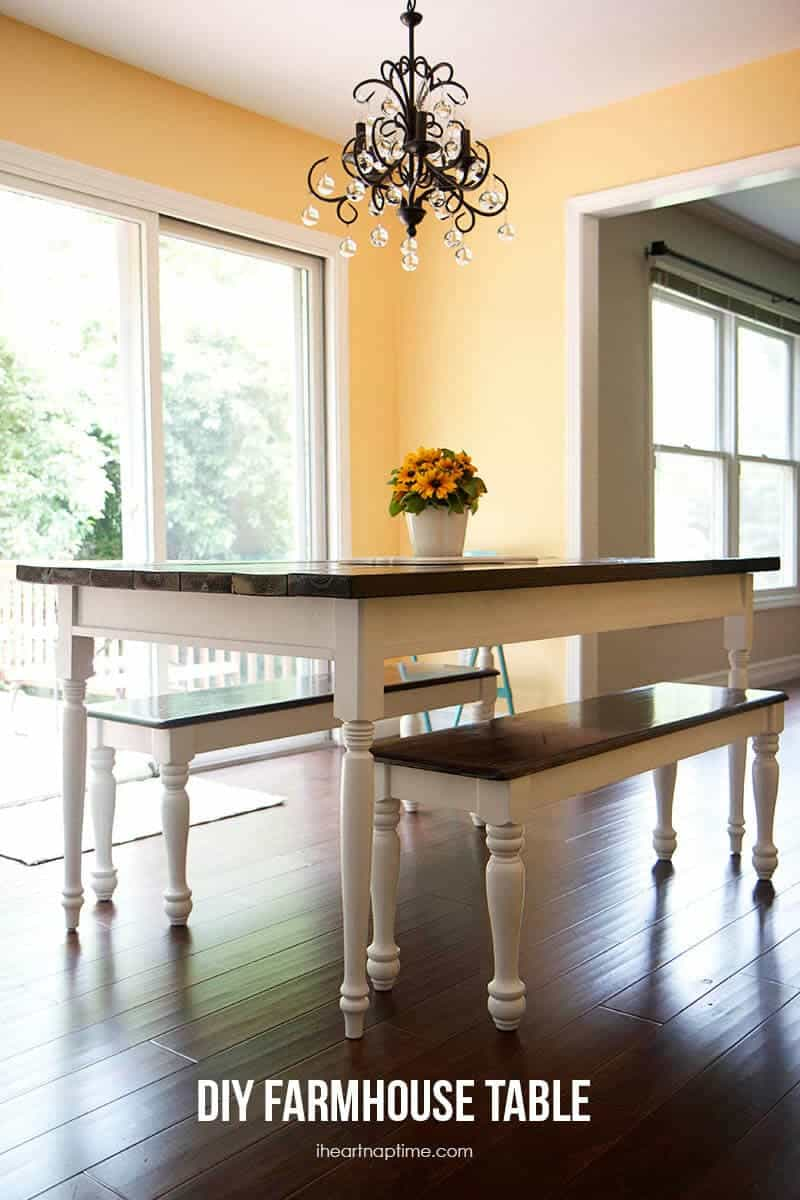 Diy farmhouse kitchen table i heart nap time for How much does it cost to build a farmhouse