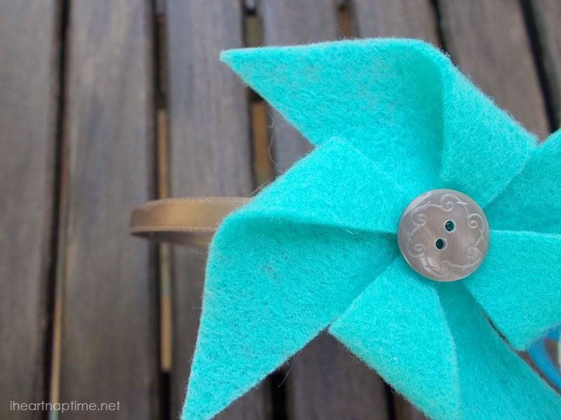 DIY Pinwheel Headbands