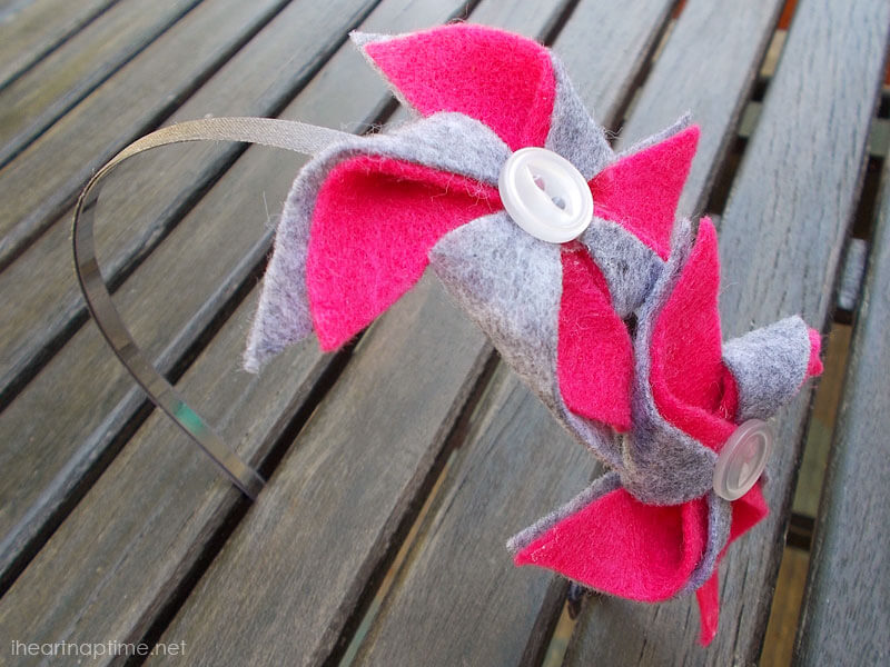 DIY Pinwheel Headbands