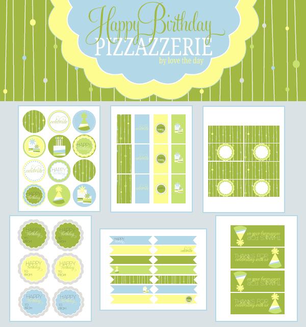 15 free birthday printables - I Heart Nap Time