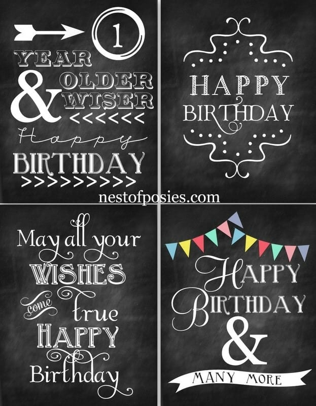 happy birthday sign printable