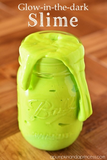Homemade glow in the dark slime