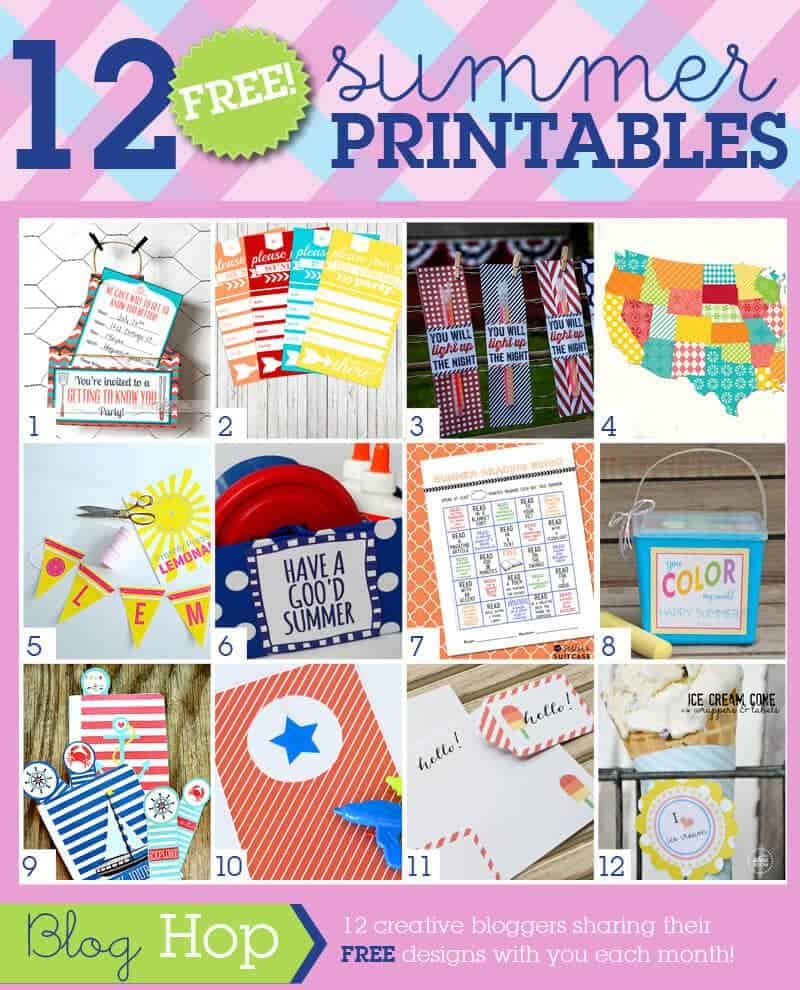 July Summer Printable Blog Hop