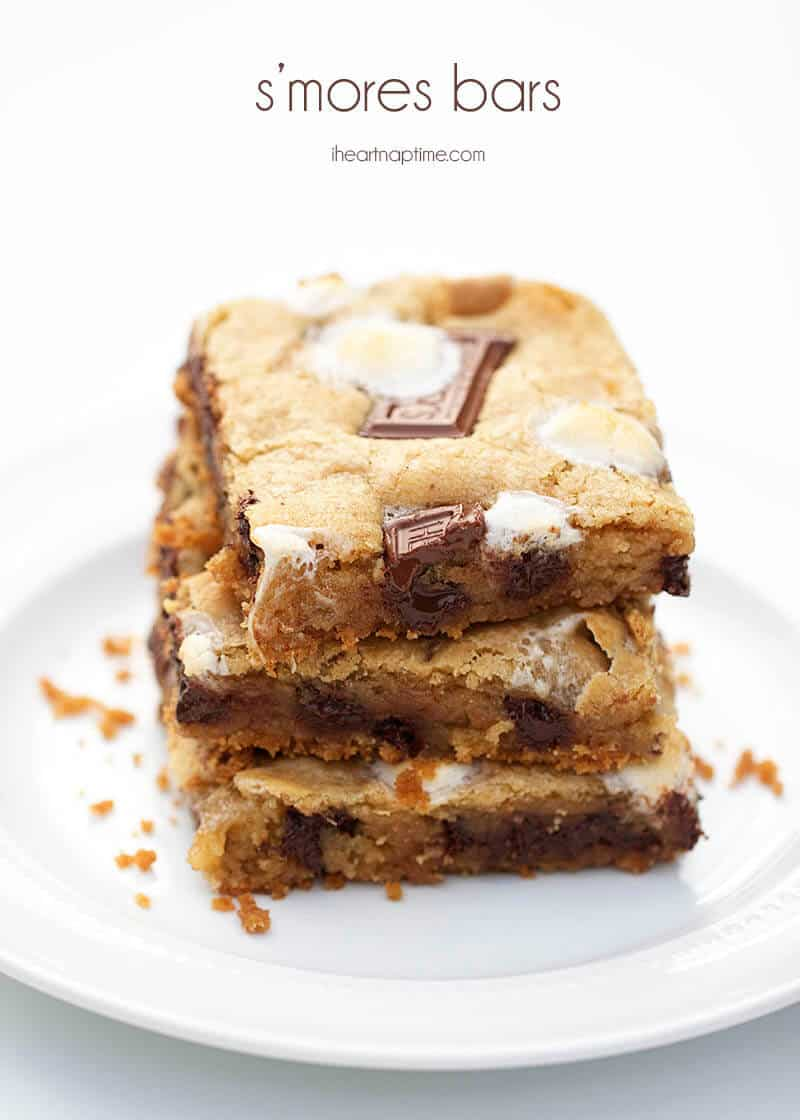 Chocolate chip s'mores cookie bars