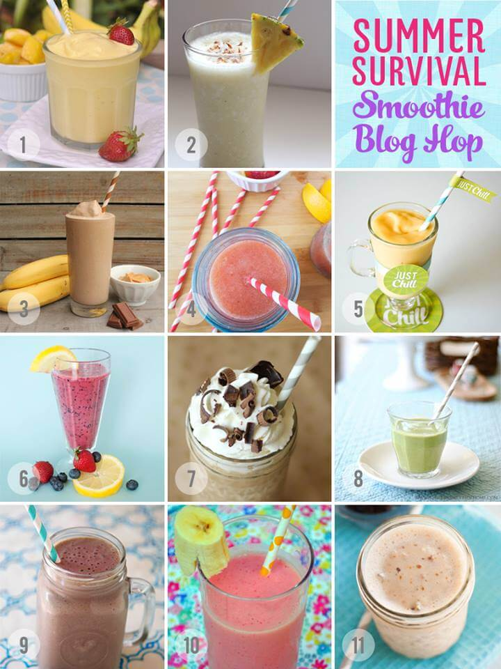 12 yummy smoothie recipes + a Blendtec blender giveaway!