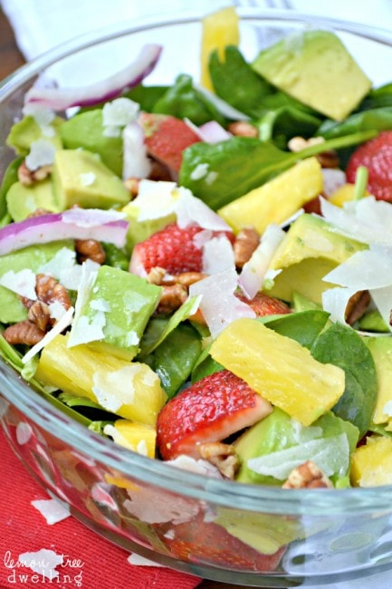Tropical Spinach Salad 4