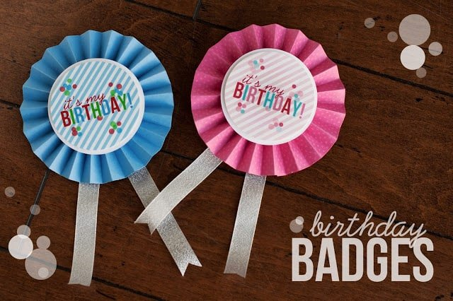 birthday badges