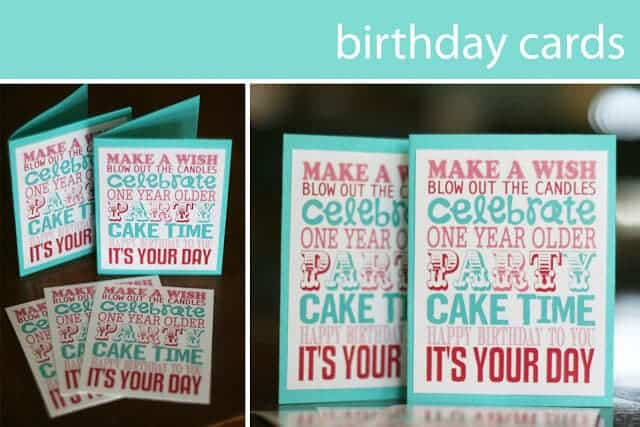 15 free birthday printables I Heart Nap Time – Free Printing Birthday Cards