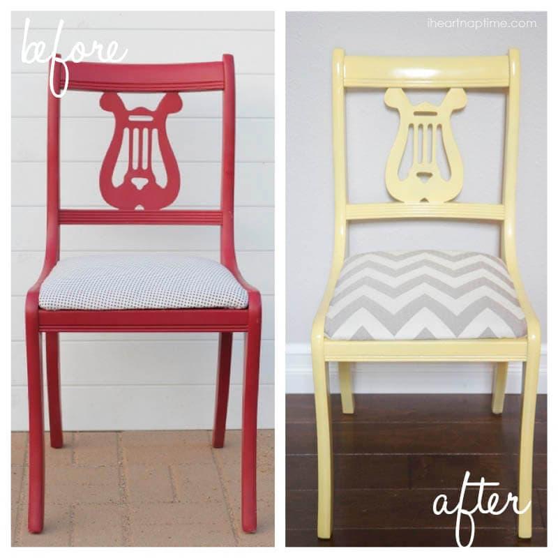 chair makeover on iheartnaptime.com