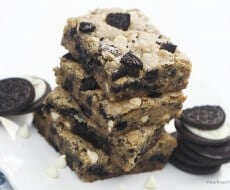 Chocolate chip oreo cookie bars