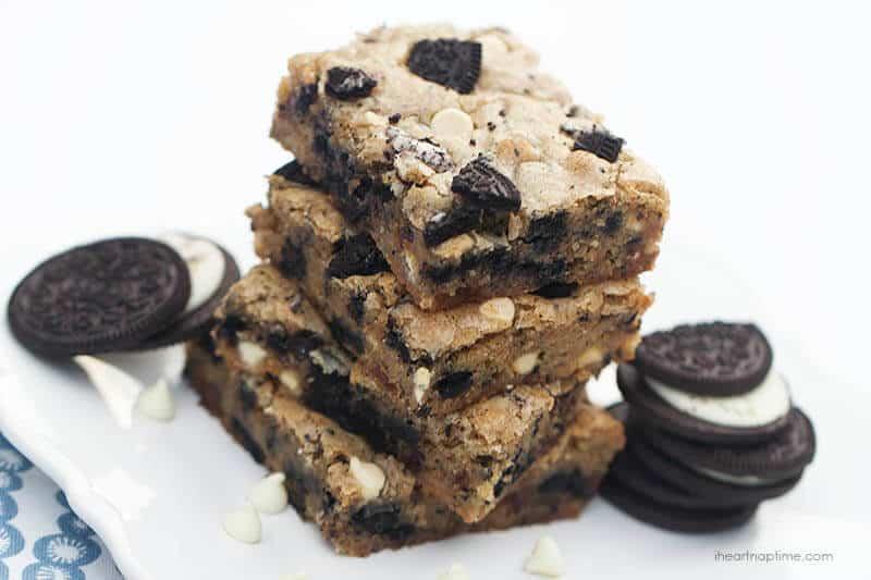 Apr 12, · If you love cheesecake and Oreo's and the whole cookies and creme flavor then you will love these Oreo cheesecake bars! It's full of Oreo goodness. Oreo crust on the bottom and crumbled up Oreo's throughout the entire cheesecake! You won't be able to resist relbornbingzarword.gqgs: