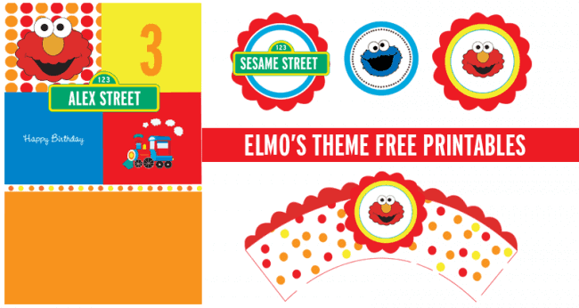 elmo party free printables