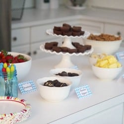 fondue party with free printables on iheartnaptime.com