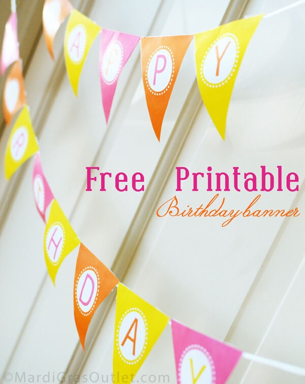 photo about Free Birthday Banner Printable named 15 totally free birthday printables - I Centre Nap Period