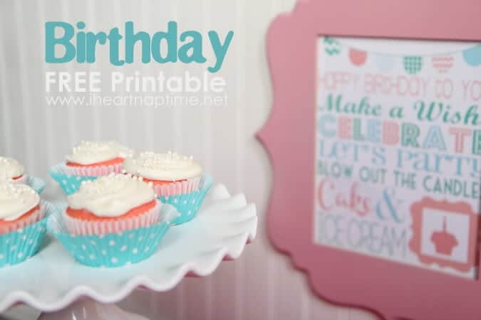 Printable Birthday Decorations Free ~ 15 free birthday printables i heart nap time