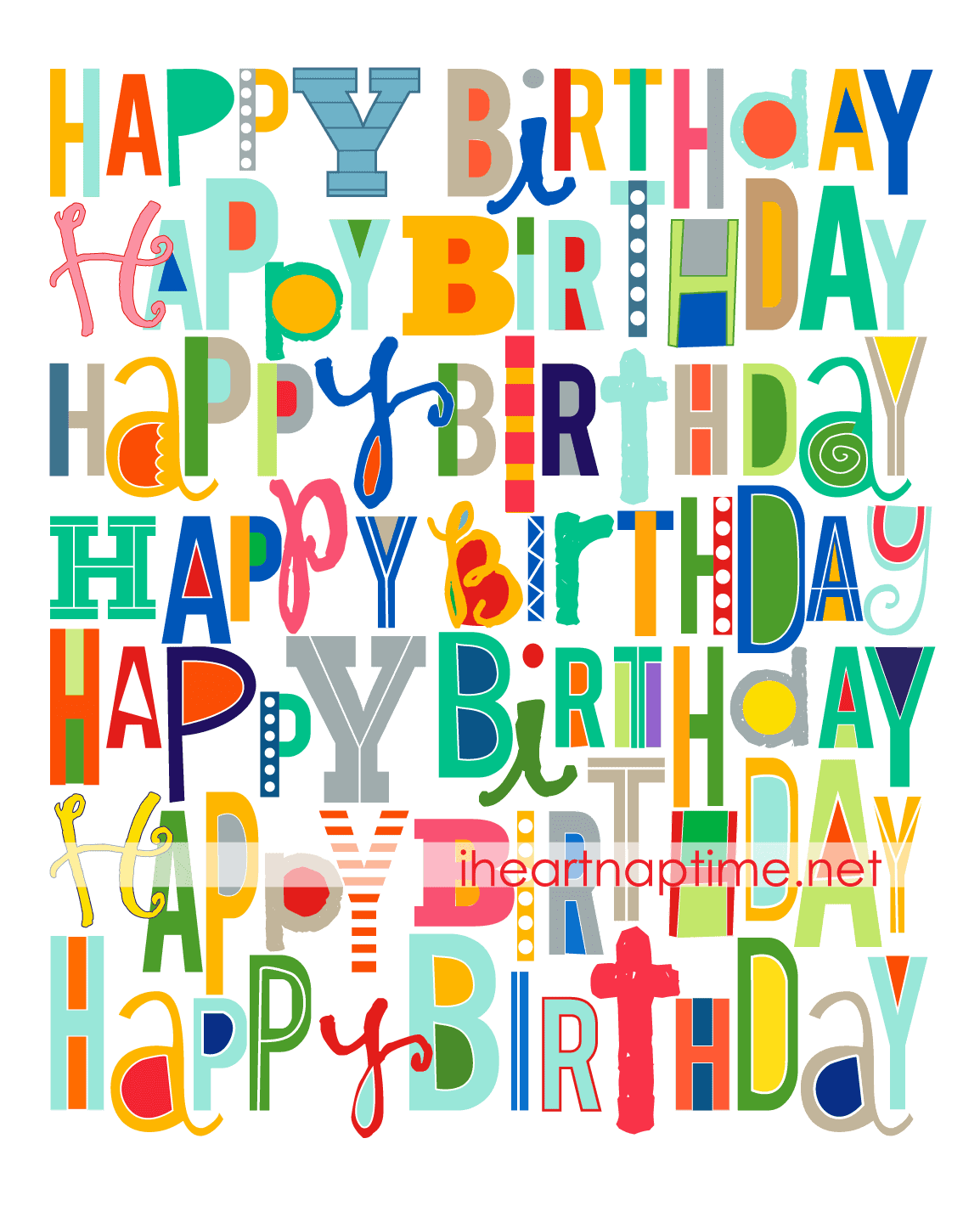 image regarding Happy Birthday Printable Sign known as Free of charge Delighted Birthday Printable - I Center Nap Season