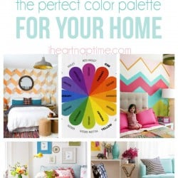 How to choose the perfect color palette for your home on iheartnaptime.com
