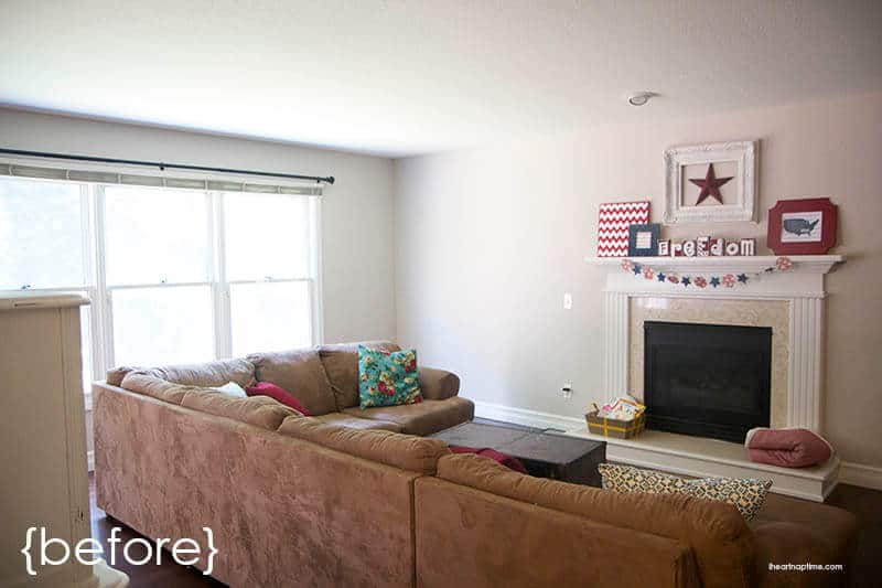 Living room makeover with jo ann and hgtv home fabric i for Living room makeovers