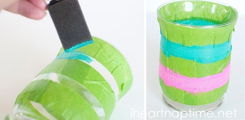 DIY Painted Glassware
