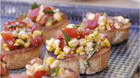 roasted corn & Tomato Bruschetta