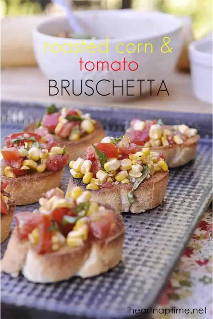 roasted corn & Tomato Bruschetta