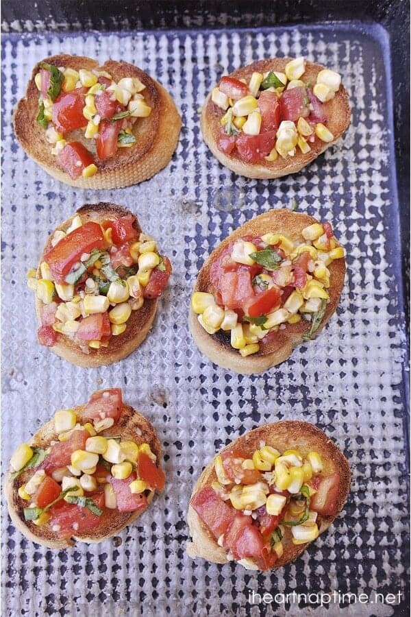 roasted corn bruschetta