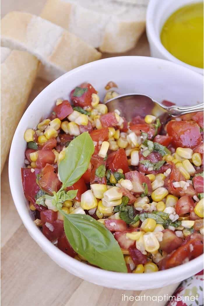 roasted corn in bowl