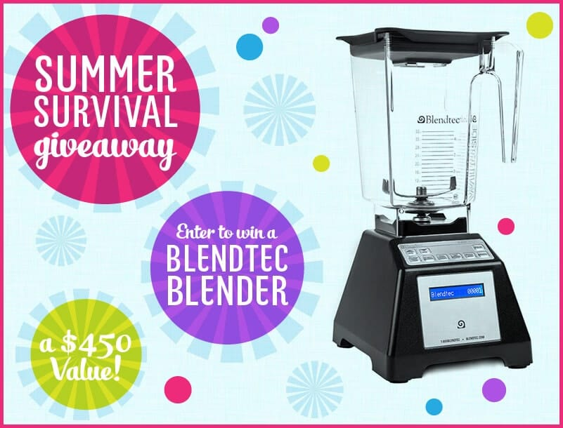 Blendtec giveaway on iheartnaptime.com $450 value!
