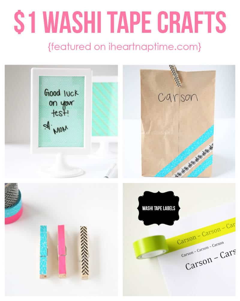 Washi Tape Crafts Cute And Easy $1 Washi Tape Crafts  I Heart Nap Time