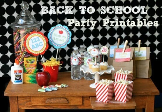 Image result for back to school party printables free