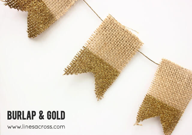 Burlap and Gold Banner - Casual Elegance