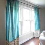 DIY back tab curtains tutorial on iheartnaptime.com