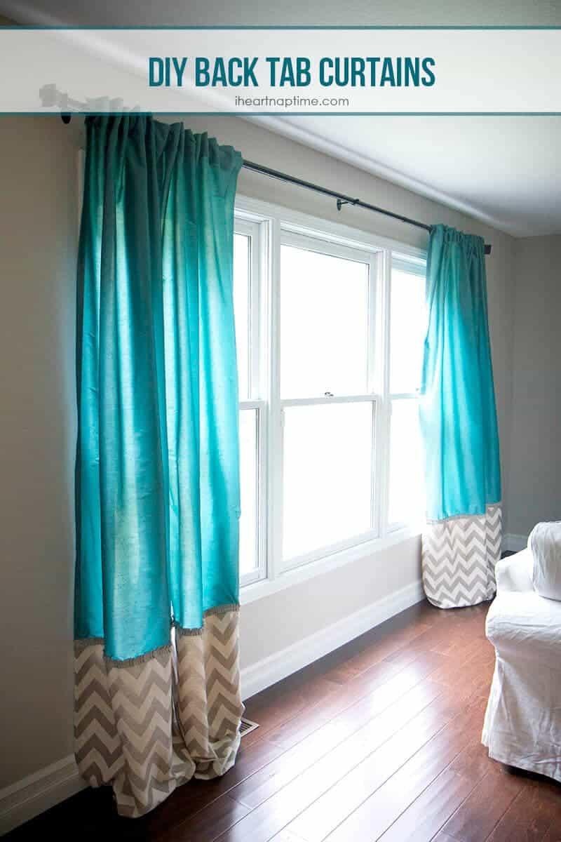 Back tab top curtains - Diy Back Tab Curtains