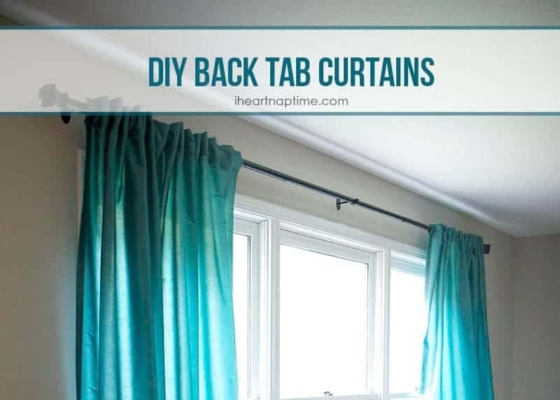 Diy Back Tab Curtains I Heart Nap Time