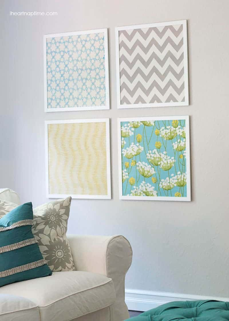 Diy fabric art i heart nap time for Fabric mural designs