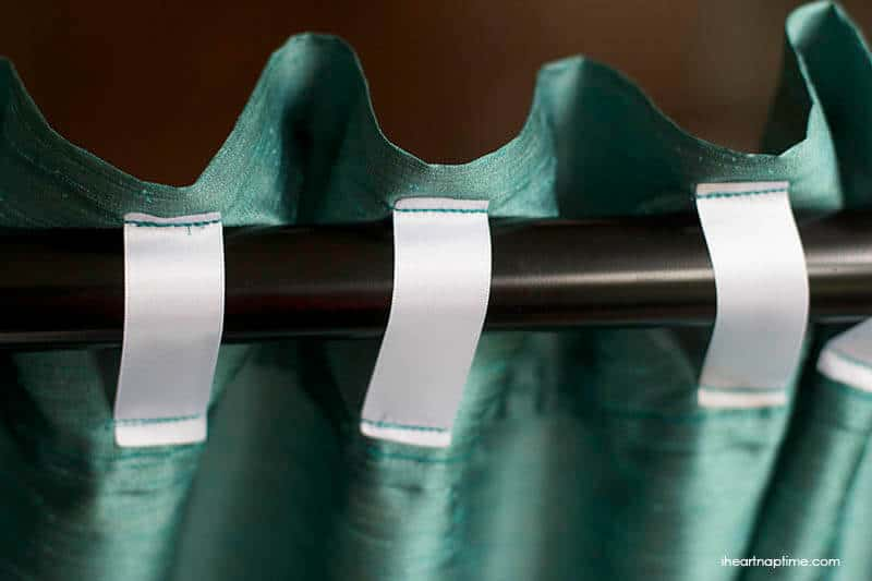 DIY ribbon tab curtains