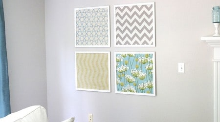 Easy DIY fabric art