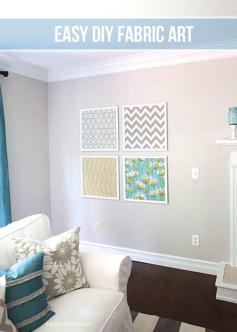 easy diy fabric art - Fabric Wall Designs