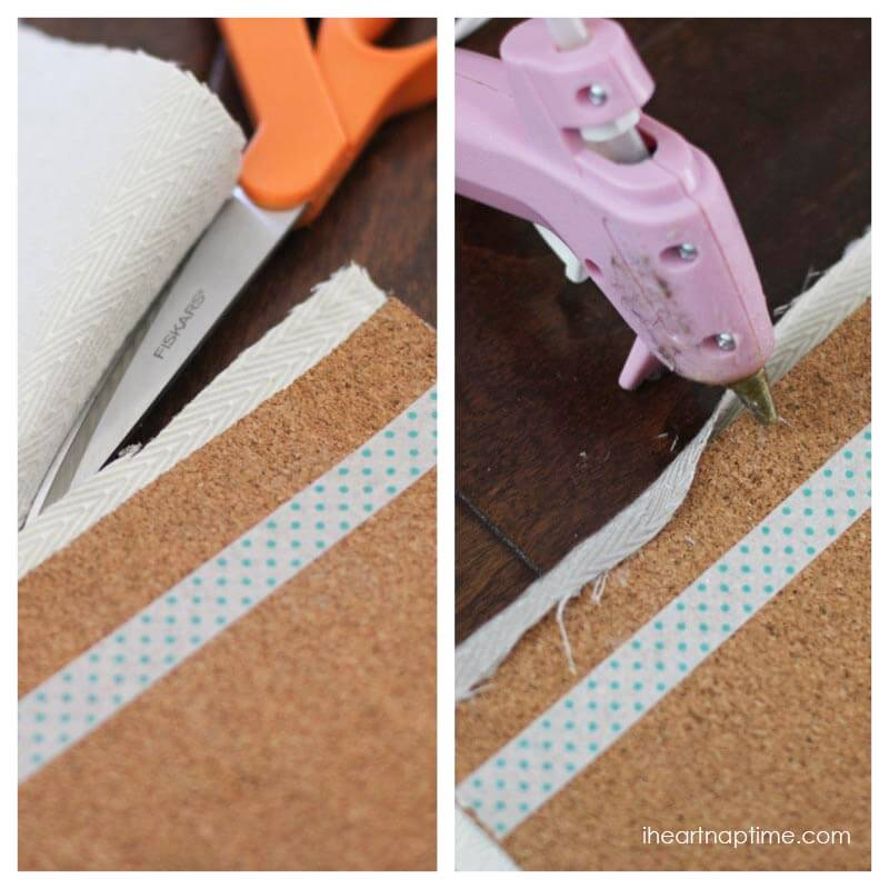 DIY fabric cork board tutorial on iheartnaptime.com