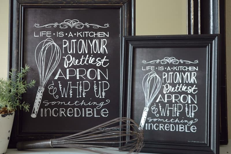 Genial Adorable Chalkboard Kitchen Art Free Download ...LOVE This!