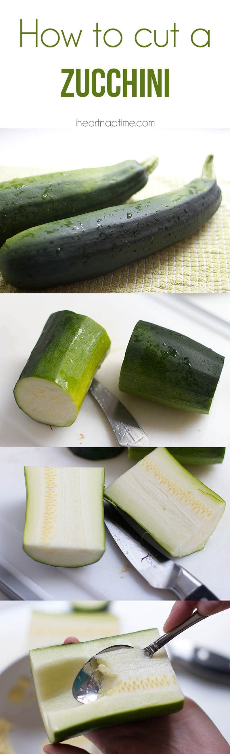 How to cut a zucchini from iheartnaptime.com #tips #cooking