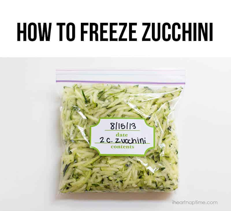 Freeze your zucchini so you'll have it for months to come! #cooking
