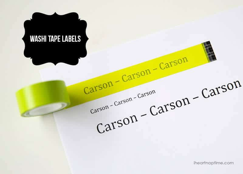 Make your own labels with washi tape ...so cool!