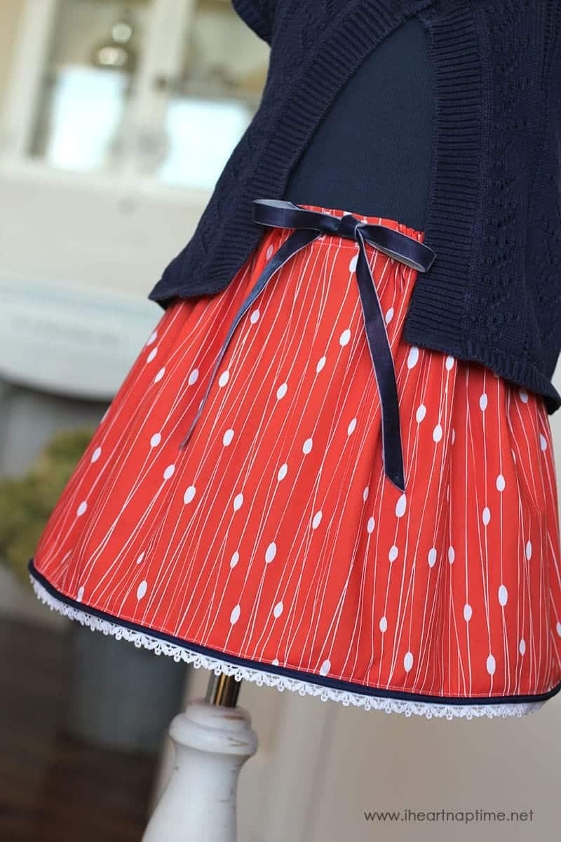 Trimmed Hem Skirt Tutorial