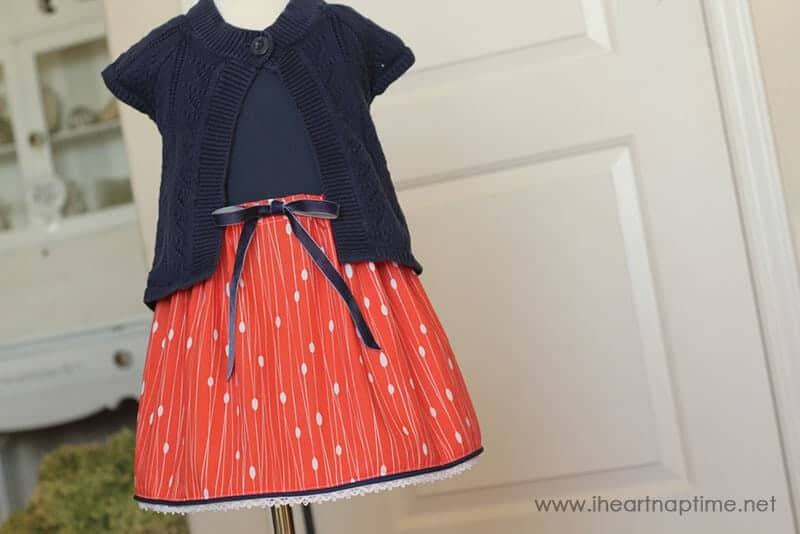 Trimmed Hem Skirt Tutorial