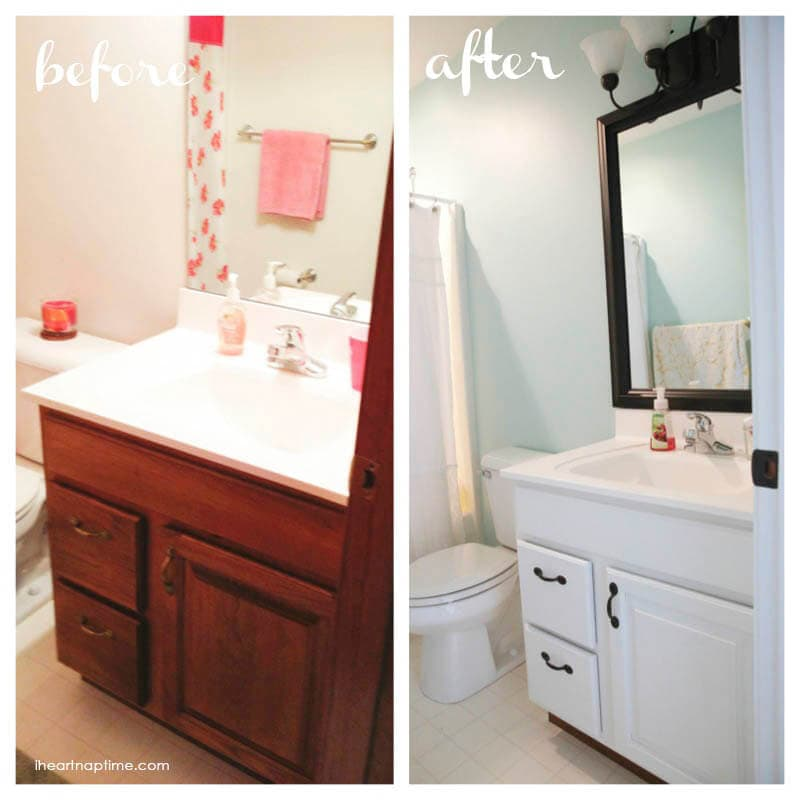 Bathroom makeover before and after copy