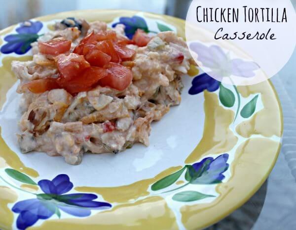chicken torilla casserole